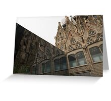 Reflecting on Sagrada Familia, Antoni Gaudi's Masterpiece Greeting Card