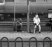 Personal Bubbles at the Bus Stop by Jyve