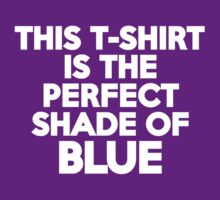 This t-shirt is the perfect shade of blue by onebaretree