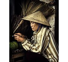 The Broom Vendor #0101 Photographic Print