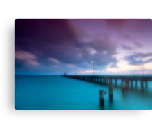 Dusk at Mordialloc Pier Metal Print