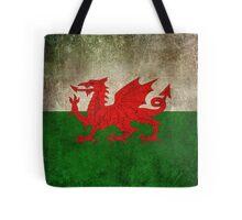 Old and Worn Distressed Vintage Flag of Wales Tote Bag
