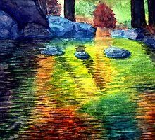 Rock Pool In The Fall by John Moore