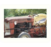 Vintage Tractor in colour Art Print