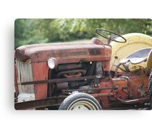 Vintage Tractor in colour Canvas Print