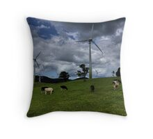 Contented Cows Throw Pillow