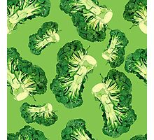 - Broccoli pattern (green) - Photographic Print
