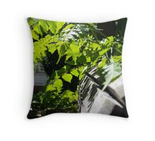 As green as they eye can see Throw Pillow