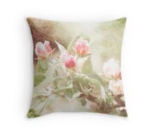 Distressed Blossom (1) Throw Pillow