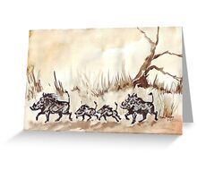 An African scene Greeting Card