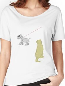 Walkin the robodog Women's Relaxed Fit T-Shirt