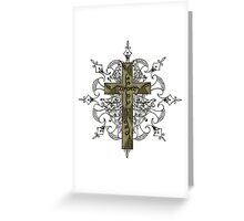 Cross Design T-Shirt Greeting Card