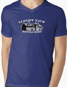 CLOUDY VIEW Mens V-Neck T-Shirt