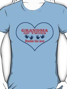 GrandMa Of Twins Double The Love T-Shirt