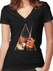 Clockwork Orange Stanley Kubrick Women's Fitted V-Neck T-Shirt