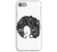 Pen & Ink  Drawing | Women's Afro  iPhone Case/Skin