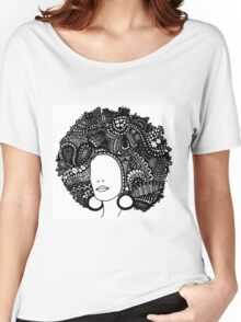Pen & Ink  Drawing | Women's Afro  Women's Relaxed Fit T-Shirt