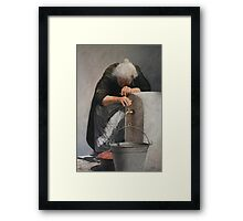 She, the power and the life Framed Print