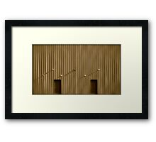 structure of shadows Framed Print