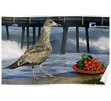 Still Life With Gull and Radishes Poster