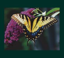 #140 Tiger Swallowtail On Butterfly Bush T-Shirt