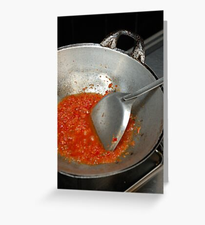 spicy chilli Greeting Card