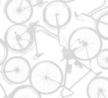 Pile of Grey Bicycles Sticker