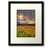 Asciano country, Tuscany, Italy Framed Print
