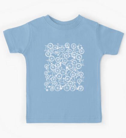 Pile of White Bicycles Kids Tee