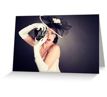 Boudoir with a Welta Greeting Card
