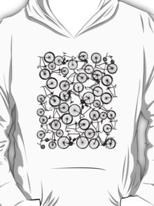 Pile of Black Bicycles T-Shirt