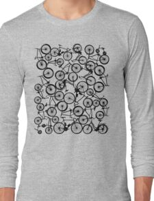 Pile of Black Bicycles Long Sleeve T-Shirt