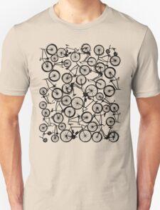 Pile of Black Bicycles Unisex T-Shirt