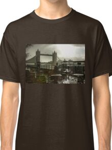 Sunny Rainstorm in London, England Classic T-Shirt