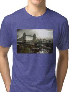 Sunny Rainstorm in London, England Tri-blend T-Shirt