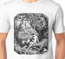 Adam and Eve in the garden of Eden Unisex T-Shirt