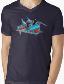 Daft Invaders Mens V-Neck T-Shirt