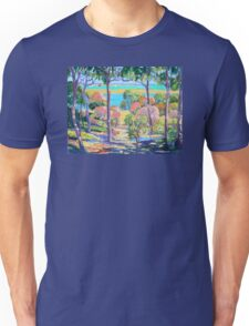 Town of 1770 View from Captain Cook's Lookout  Unisex T-Shirt