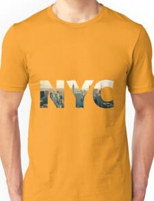 NYC for NEW YORK CITY - Typo Unisex T-Shirt