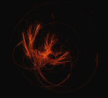 Abstract Flaming Phoenix by Claudiu Badea
