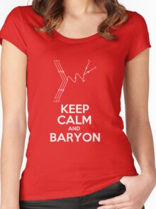 Keep Calm and Baryon Women's Fitted Scoop T-Shirt