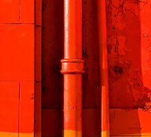 Painted Wall with Drainpipe by Ravensara