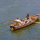 Rowing on the River Avon by Rod Johnson