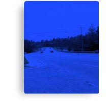 The highway has the blues Canvas Print