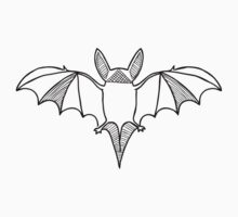 Leaf-Nosed Bat (Black on White) Kids Tee
