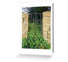 Nettle Time Gate  Greeting Card