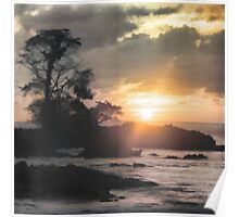 Sunset on Playa Blanca Island - Choco - Colombia Poster