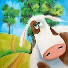 CUTE COW FOLK PAINTING by gordonbruce