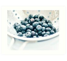 Washed Blueberries Art Print