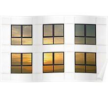 Reflected sunset Poster